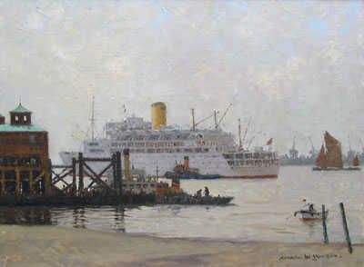 Norman Wilkinson Tilbury sell artist Robert Perera Fine Art Ltd