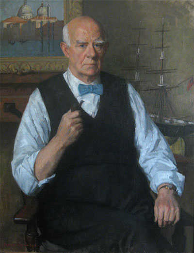 Portrait of Artist Norman Wilkinson by Rodney Wilkinson - Robert Perera Fine Art Ltd.