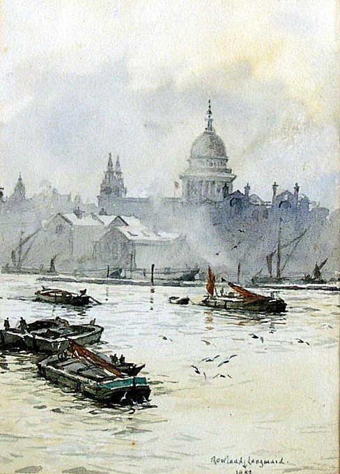Rowland Langmaid value watercolour wanted sell artist Robert Perera Fine Art Ltd