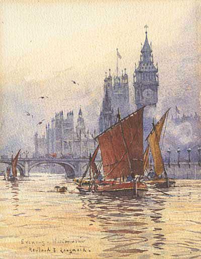 Rowland Langmaid watercolour valuation wanted sell artist Robert Perera Fine Art Ltd