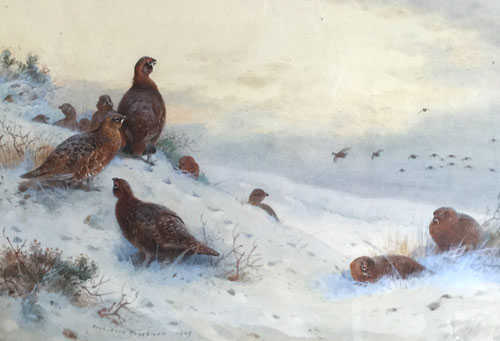 Sell Archibald Thorburn Snow Scene - Robert Perera Fine Art Ltd