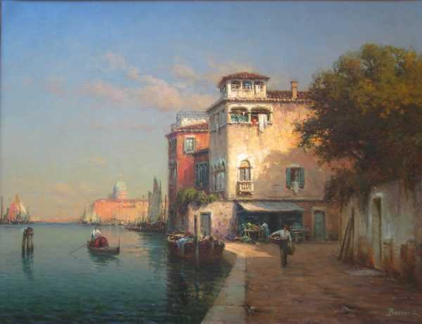 Noel Bouvard Venice Painting Valuation - sell to Robert Perera Fine Art UK