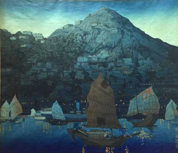 Free valuation on Elizabeth Keith Hong Kong Harbour woodblock sell to Robert Perera Fine Art Ltd