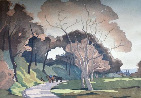 Eric Slater woodcut Value sell to Robert Perera Fine Art Ltd.